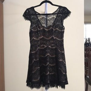 Forever 21 Lace Sequin Mini Dress